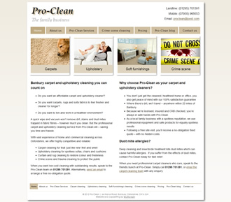 Pro-Clean specialist carpet & upholstery clearners