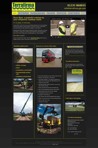 Terrafirma roadways - environmentally sensitive site access solutions