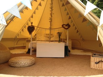 Beautiful Bells bell tent hire wedding bell
